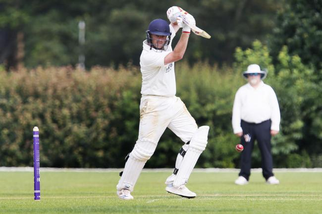 Stand-in captain Harry Smith adds to his tally in Oxfordshire's second innings against Shropshire Picture: Ed Nix