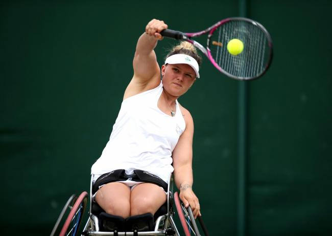 Jordanne Whiley and Yui Kamiji lost their Wimbledon ladies' wheelchair doubles semi-final in three sets Picture: Steven Paston/PA Wire