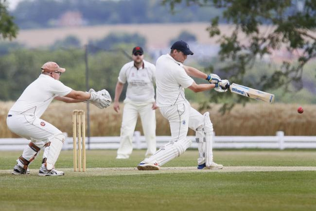 Conor Jones hits out for Challow & Childrey against Minster Lovell Picture by Ed Nix.
