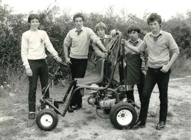 Neale Ward, David Adams, James Cox, Andrew Ingram and Keith Davies 29/09/1982