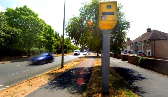Marston Road speed camera. Pic: Richard Cave