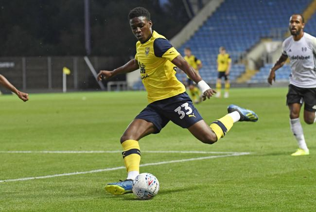 Kevin Berkoe, pictured in pre-season, made his Oxford United debut on Tuesday night Pictures: David Fleming