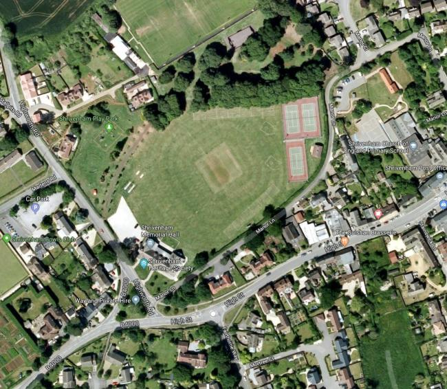 Shrivenham Recreation Ground. Pic google maps