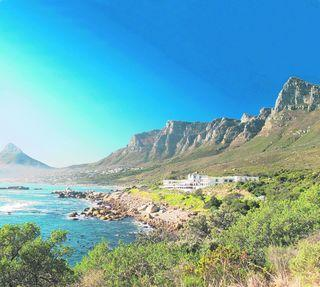 The Twelve Apostles Hotel, Cape Town, stands in the shadow of the Twelve Apostles mountains