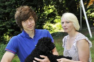 The Oxford Times: Luke Franklin with his mother Sandy and poodle Mitzy