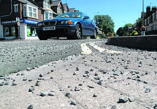 Riders criticise road chippings
