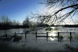 Flooded fields around Marston Ferry Road