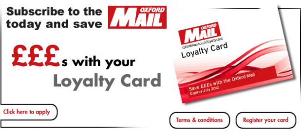 The Oxford Times: £300 Oxford Mail loyalty card rollover
