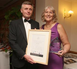 Colin and Sue Taylor with The Oxford Times Charity and Community Award