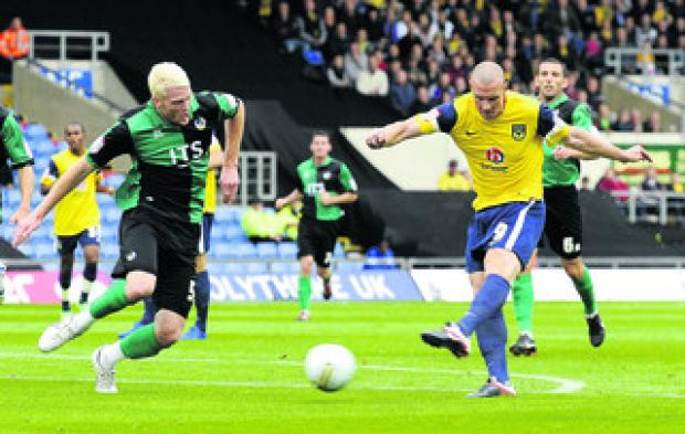 The Oxford Times: James Constable scores the opening goal against Bristol Rovers