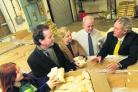 Minister Nick Hurd MP, second from left, at Oxford Foodbank with Doireann Lalor, Nicola Blackwood MP, David Cairns and Robin Aitken