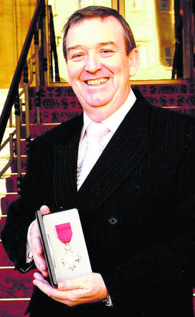 Robin Diver with his MBE