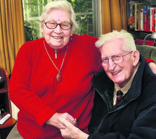 Dr Read and wife Maisie on their 60th wedding anniversary in 2011