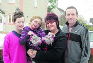 Lorrain Lally, pictured with son Michael, daughter Annabel and husband Michael