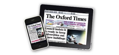 Portrait or Landscape, the Oxford Times App lets you read your paper whichever way you want, when you want