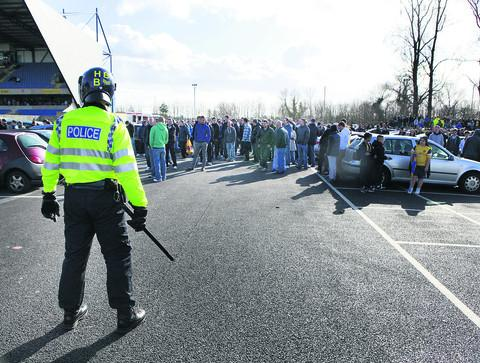 Police keep a close eye on fans