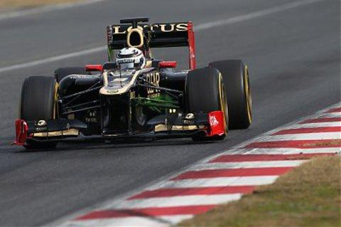 An Enstone-built Lotus F1 Picture: Lorenzo Bellanca/LAT Photographic