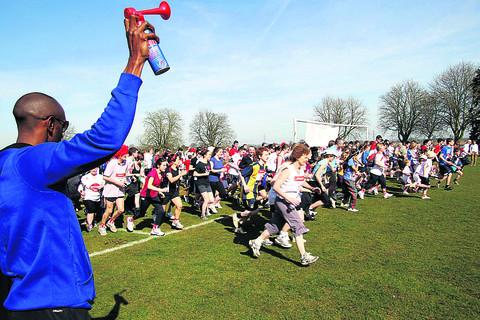The Oxford Times: Entrants start at a previous running event in Cutteslowe Park