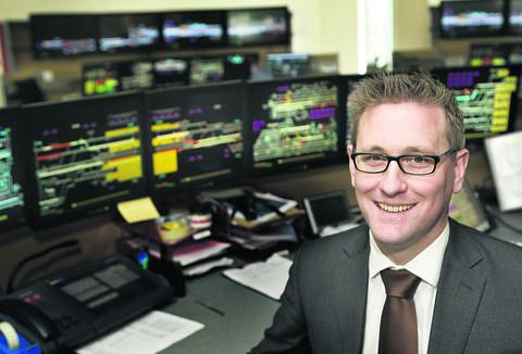 Network Rail route director Patrick Hallgate at the Thames Valley Signalling Centre in Didcot