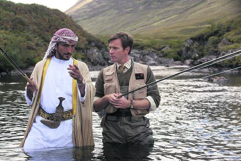 FEELGOOD: Amr Waked and Ewan McGregor in Salmon Fishing in the Yemen