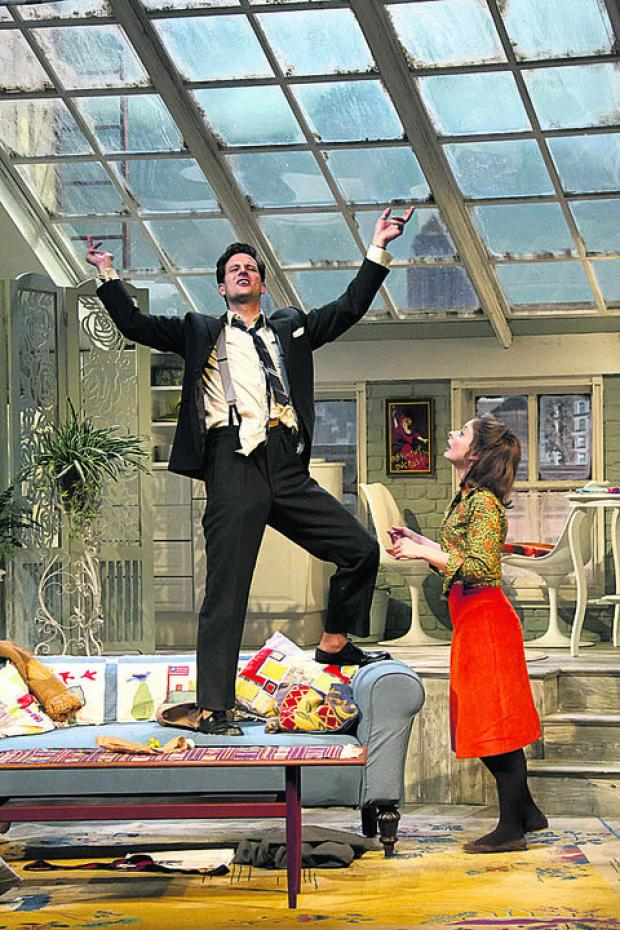 HOME LIFE: Dominic Tighe and Faye Castelow in Barefoot in the Park