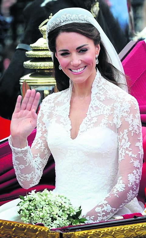 The Duchess of Cambridge at her wedding