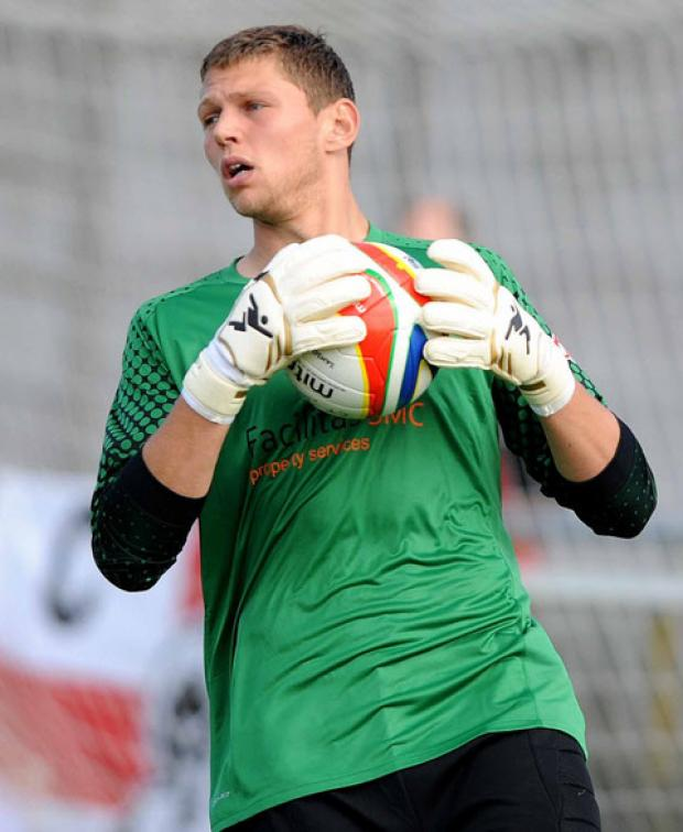 Oxford City keeper Jason Mooney failed to hold a cross for Hemel Hempstead Town's opener