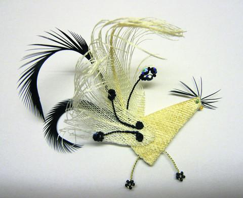 MIXED MEDIA: Lizzie Hurst's Bridal Groom Bird I