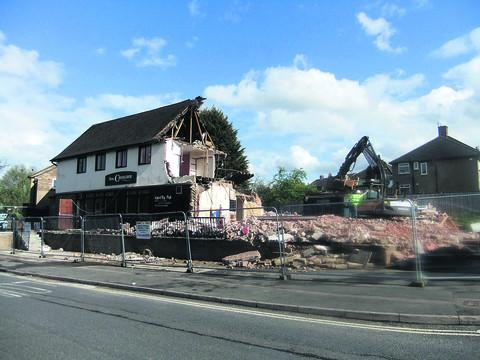 Pub demolished to make way for flats