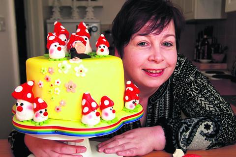 Andrea Stewart, pictured with one of her creations