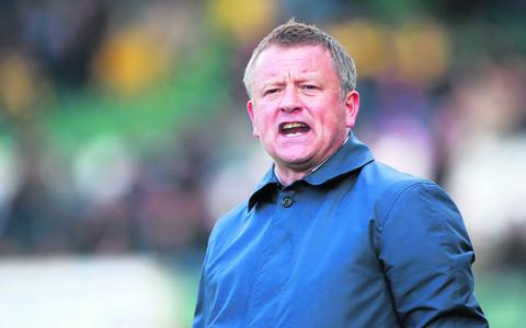 United manager Chris Wilder
