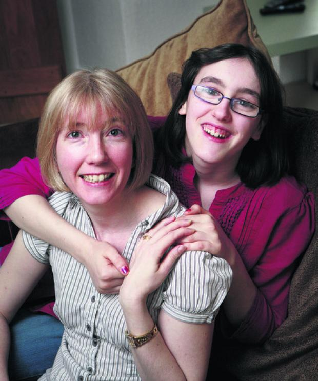 Julia Brown with her adopted daughter Niamh