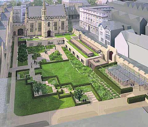 An artist's impression of the extension to the library at Magdalen College