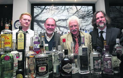 Liam Murphy of Martin Miller's gin; Christopher Gray; BBC Radio Oxford's Bill Heine; and