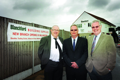 From left,  purchasing director, John Hayden; managing director, Adrian Smith and financial director Peter Cutmore