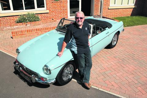 Richard Martin, vice chairman of the Abingdon MG club, with his MGB