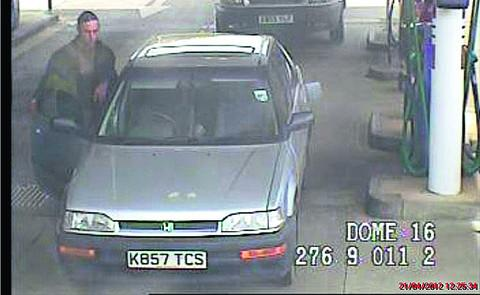 Officers have released a CCTV image in an attempt to trace the man who drove off from Sainsbury's in Oxford Road