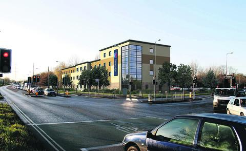 A computer generated image of what the new Travelodge in Abingdon Road could look like