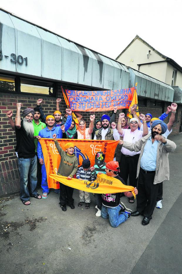 Oxford Sikhs are celebrating the granting of planning permission for a permanent temple in an ex-business premises in London Road, Headington. Project manager Pargan Singh is pictured front left