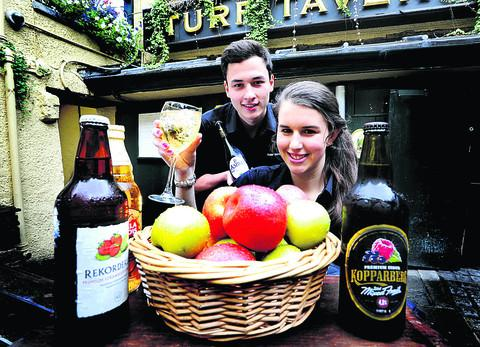 Barman Daniel Chew, pictured with workmate Daniella Kecojevic, 19