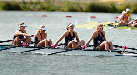 Rowing action from day 6 at Dorney Lake.