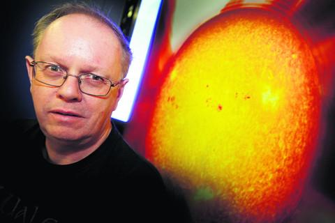 Space weather expert Prof Mike Hapgood warns that we need to be             prepared for solar storms. Picture: OX53603 Damian Halliwell