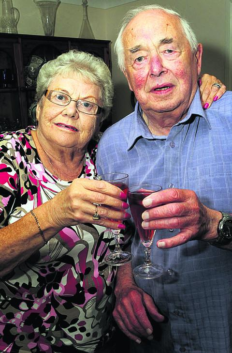 Louise and Harry Epps raise a glass to 60 happy years