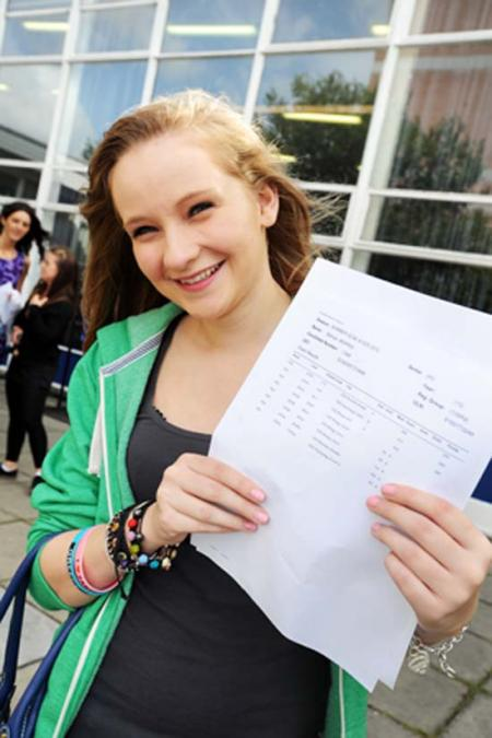 Pictures of students from across the county celebrating their A level results.