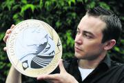 The new £2 coin to commemorate the end of the 2012 Olympics was designed by Witney's Jonathan Olliffe
