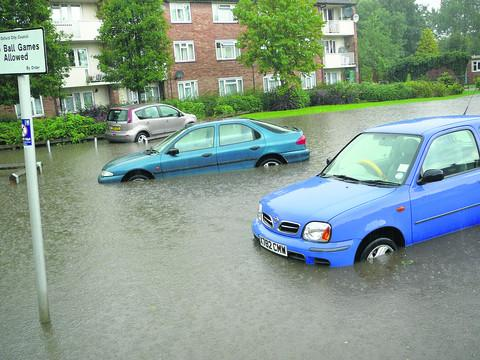 Flooding in Northway on August 5, photographed by Georgina Gibbs