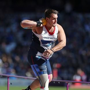 Aled Davies won bronze in the F42/44 shot put