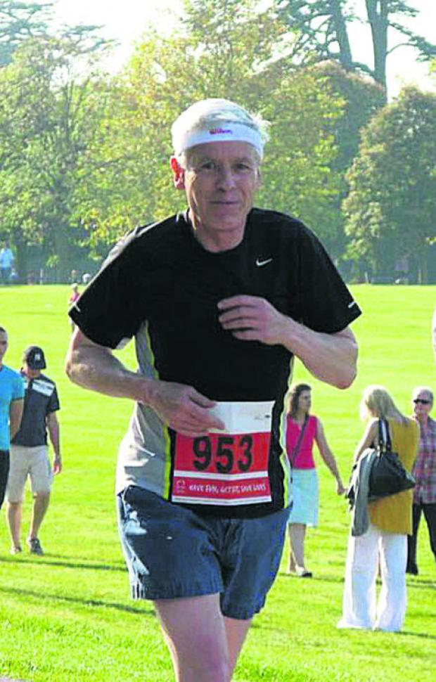 Graham Turner, running the half marathon in 2011