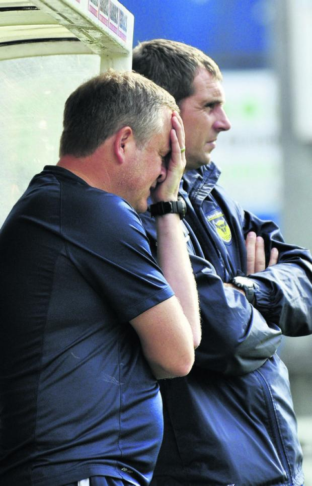 Chris Wilder's face says it all during Oxford's defeat at York on Saturday – his side's first loss in League Two this season