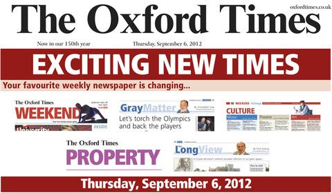Get your new look Oxford Times on Thursday